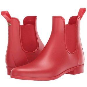 Matte Red Rainboots